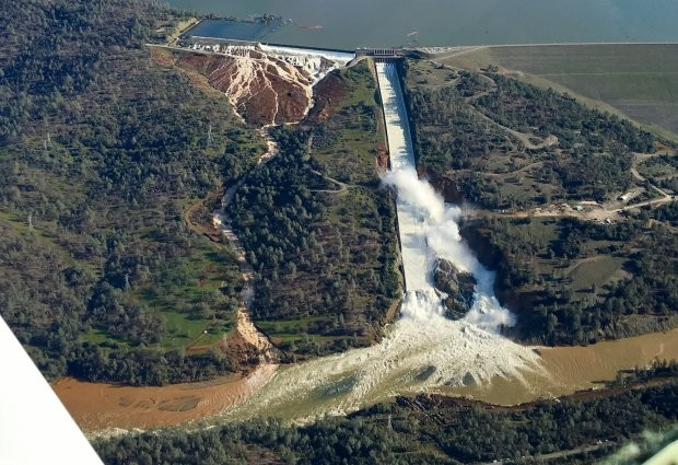 Oh, Dam. Oroville Dam Uses its Emergency Spillway