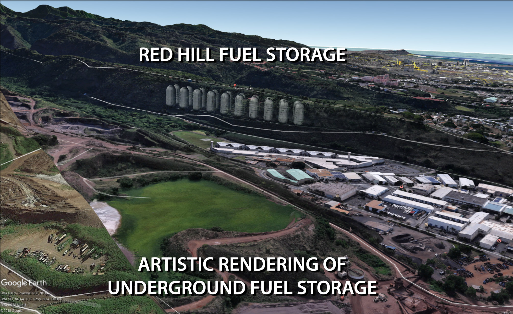 Red Hill The Largest Fuel Depot In Hawaii D L Howell