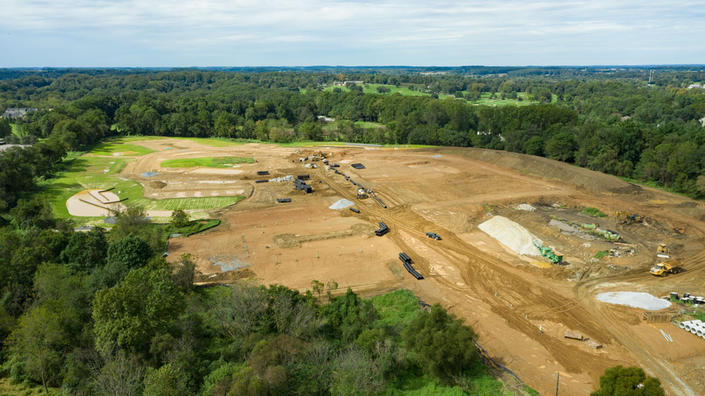Construction is underway at Longwood Preserve
